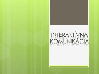 interaktívna  komunikácia