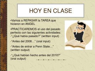 HOY EN CLASE