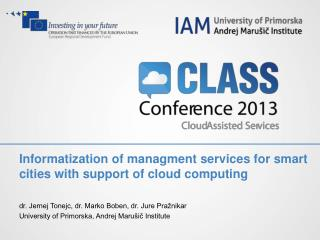 Informatization of managment services for smart cities with support of cloud computing