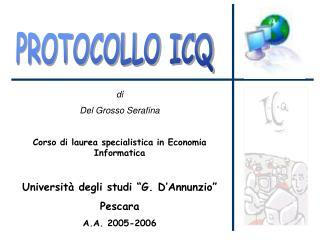 PROTOCOLLO ICQ