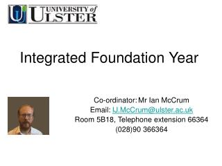 Integrated Foundation Year