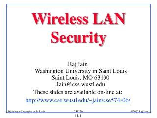 Wireless LAN Security