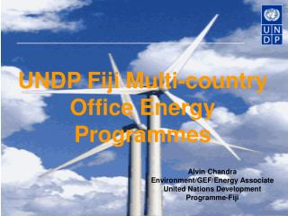 UNDP Fiji Multi-country Office Energy Programmes