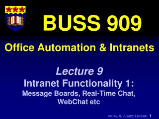 Office Automation & Intranets