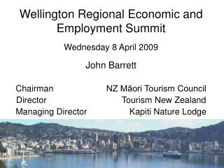 Wellington Regional Economic and Employment Summit