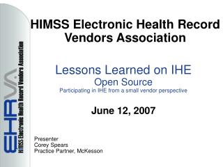 HIMSS Electronic Health Record Vendors Association