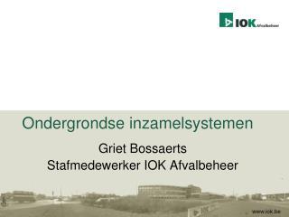 Ondergrondse inzamelsystemen