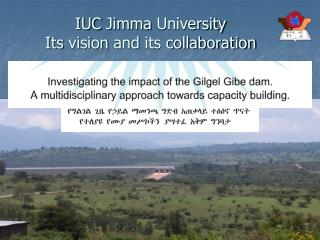 IUC  Jimma  University Its vision and its collaboration
