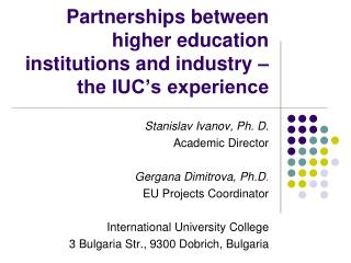 Partnerships between higher education institutions and industry – the IUC's experience