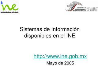 Sistemas de Información disponibles en el INE