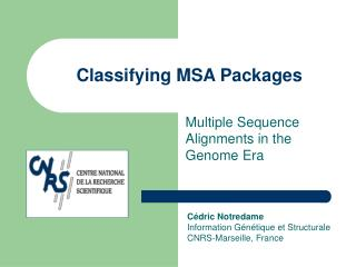 Classifying MSA Packages
