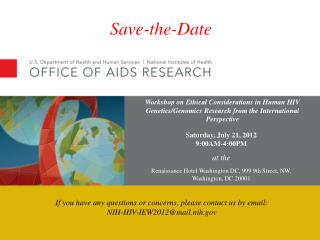 Saturday, July 21, 2012 9:00AM-4:00PM at the Renaissance Hotel Washington DC, 999 9th Street, NW,