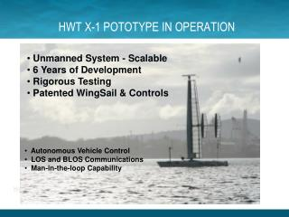 HWT X-1 POTOTYPE IN OPERATION