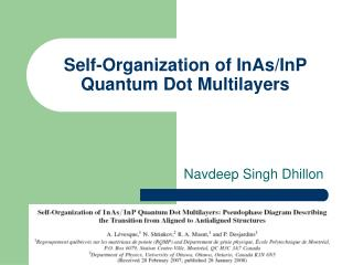 Self-Organization of InAs/InP Quantum Dot Multilayers