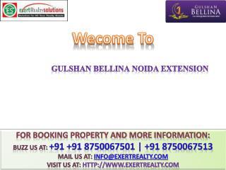Gulshan Bellina @@ 8750067501 @ Gulshan Bellina Noida Extens