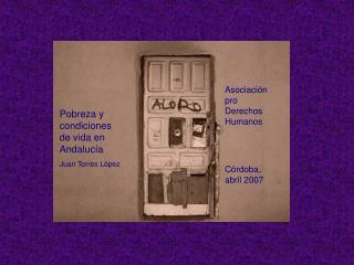 Asociaci ón pro  Derechos Humanos C órdoba, abril 2007