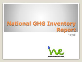 National GHG Inventory Report