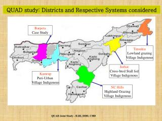 QUAD study: Districts and Respective Systems considered