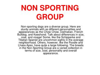 NON SPORTING GROUP