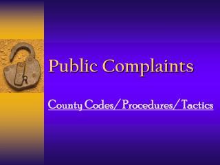 Public Complaints