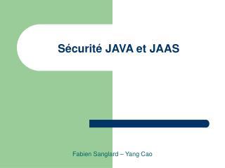 Sécurité JAVA et JAAS