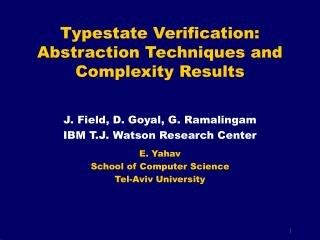 Typestate Verification: Abstraction Techniques and Complexity Results