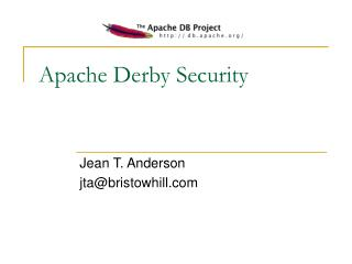 Apache Derby Security