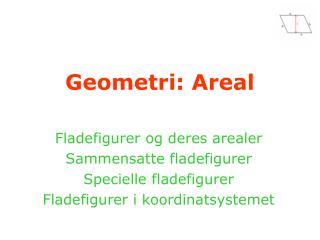 Geometri: Areal