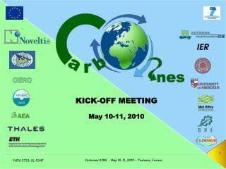 KICK-OFF MEETING May 10-11, 2010