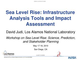 Sea Level Rise: Infrastructure Analysis Tools and Impact Assessment