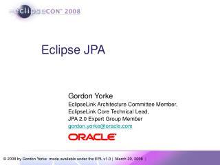 Eclipse JPA