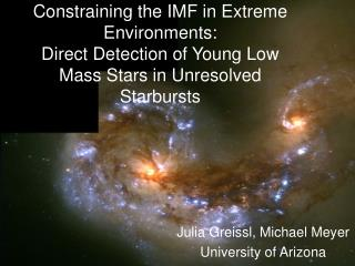 Julia Greissl, Michael Meyer University of Arizona