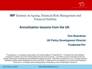 Annuitization lessons from the UK