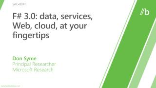 F 3.0: data, services, Web, cloud, at your fingertips