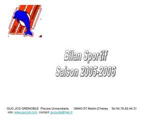 Bilan Sportif Saison 2005-2006