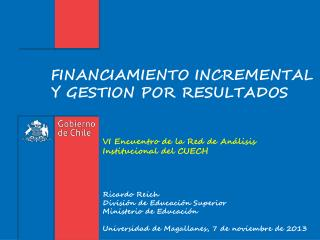 FINANCIAMIENTO INCREMENTAL Y GESTION POR RESULTADOS