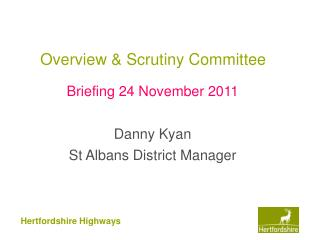 Overview & Scrutiny Committee