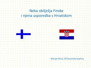 Neka obilježja Finske i njena usporedba s Hrvatskom