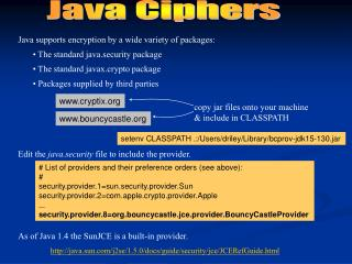 Java Ciphers
