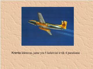 Krenta  lėktuvas, jame yra 5 keleiviai ir tik 4 parašiutai
