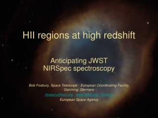 HII regions at high redshift