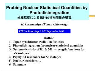 H. Utsunomiya  (Konan University)