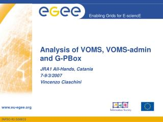 Analysis of VOMS, VOMS-admin and G-PBox