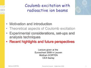 Coulomb excitation with  radioactive ion beams