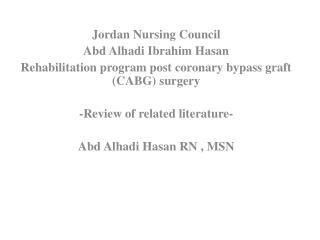 Jordan Nursing Council Abd Alhadi Ibrahim Hasan