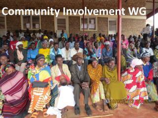 Community Involvement WG