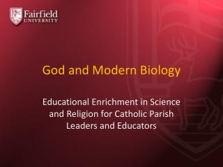 God and Modern Biology