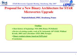 Proposal for a New Binary Architecture for STAR Microvertex Upgrade