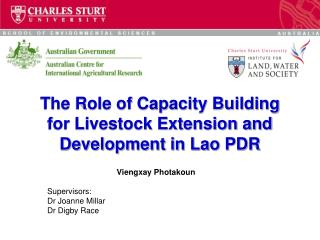 The Role of Capacity Building for Livestock Extension and Development in Lao PDR