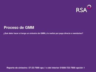 Proceso de GMM